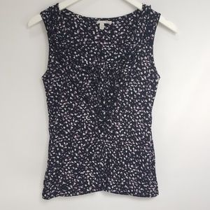 Halogen Purple Black White Speckled Sleeveless Top